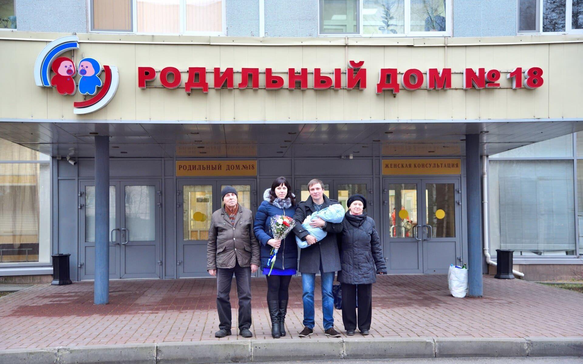 Видеосъемка выписки из роддома в Санкт-Петербурге